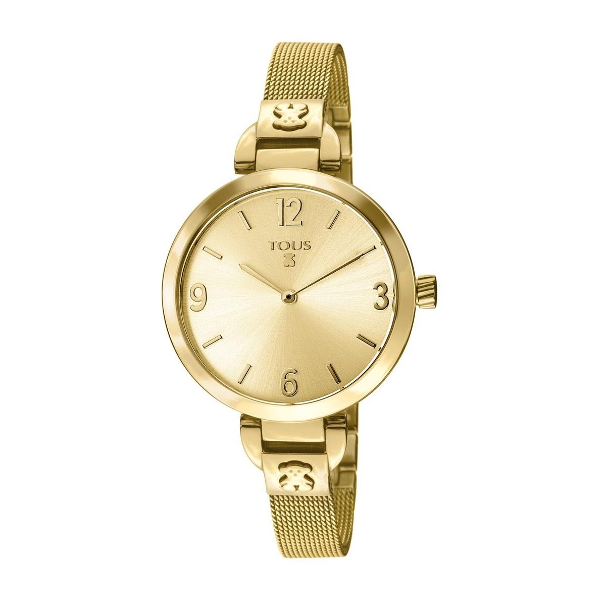 Reloj Bohème de acero IP dorado