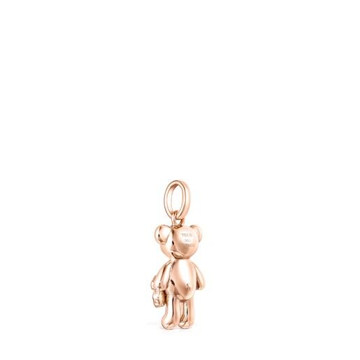 Colgante Teddy Bear oso de plata vermeil rosa