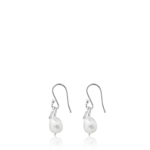 Gold TOUS Pearls Earrings with pearls.