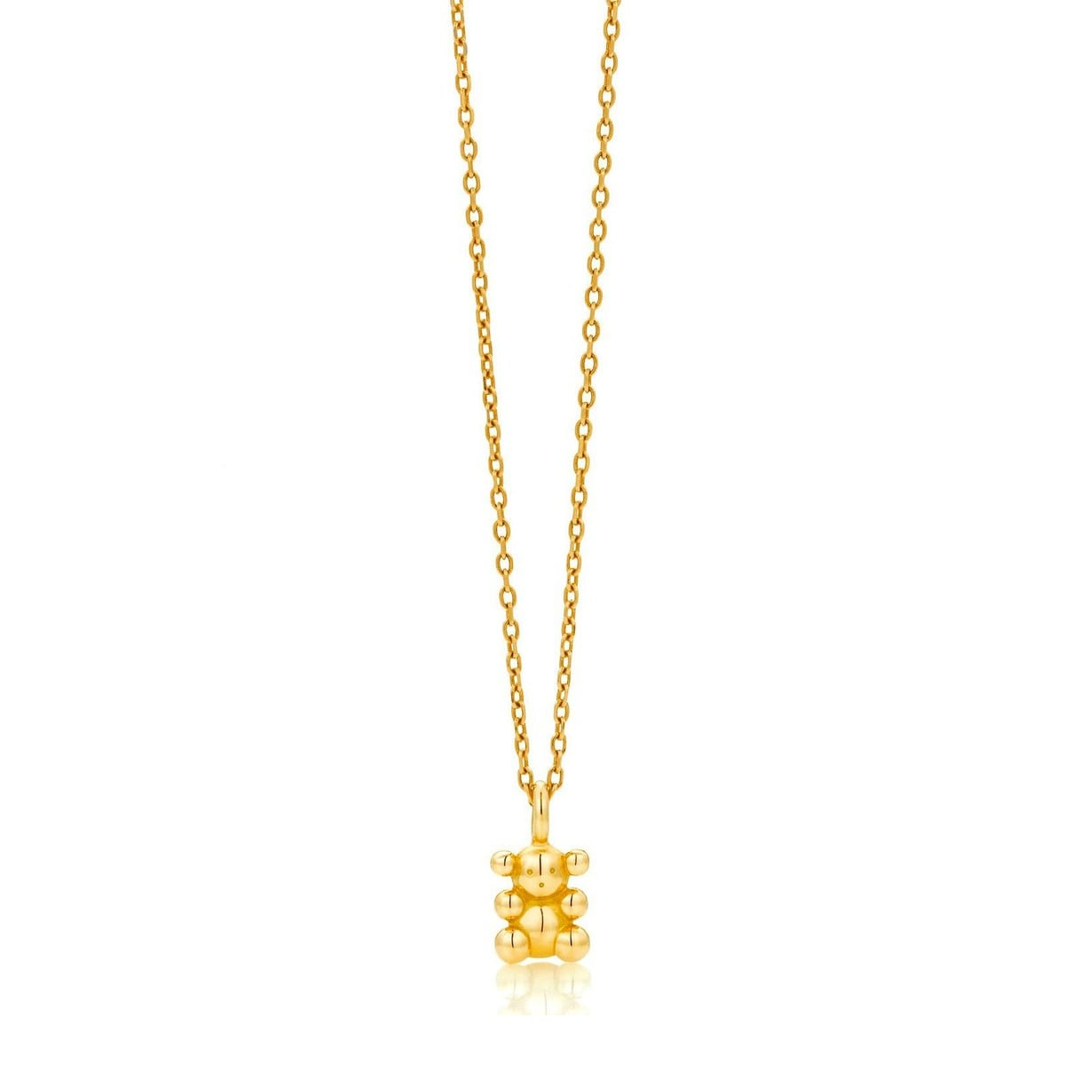 Collar Bubble Bear de Oro
