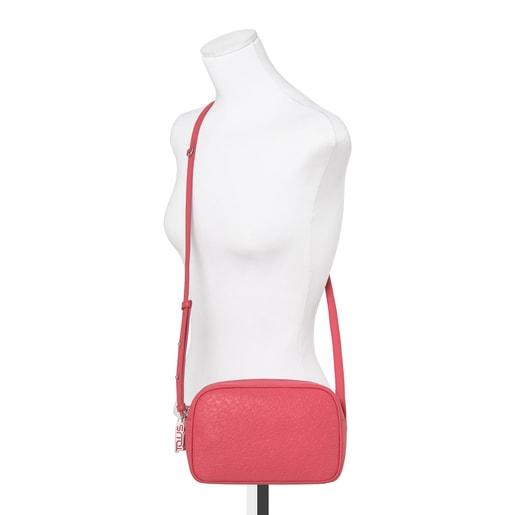 Small fuchsia leather Sira crossbody bag