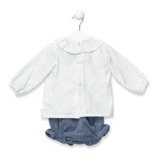 Conjunto blusa e calções Fair Azul