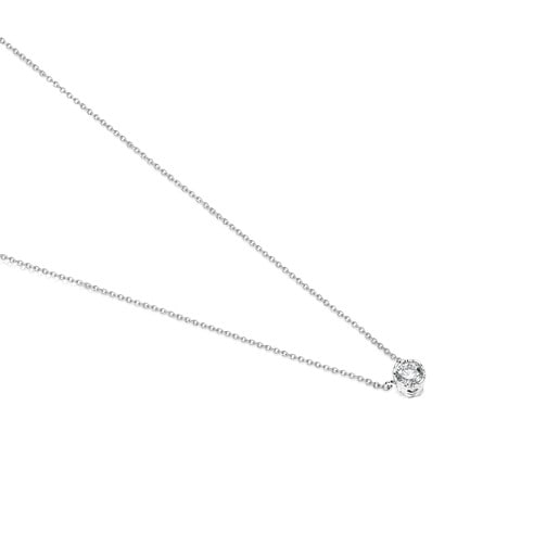White Gold TOUS Boca Osos Necklace with Diamonds 0.20ct