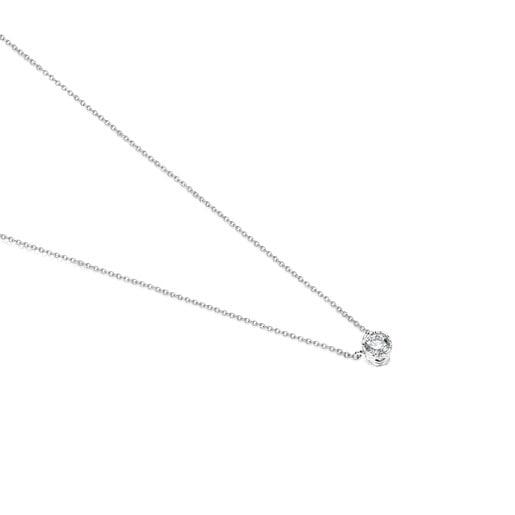 White Gold Boca Osos Necklace with Diamonds