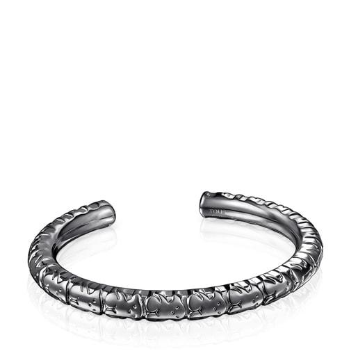 Bracelet Straight XL en Argent dark silver