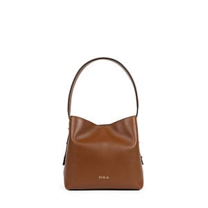 Small brown Leather Sibil One shoulder bag