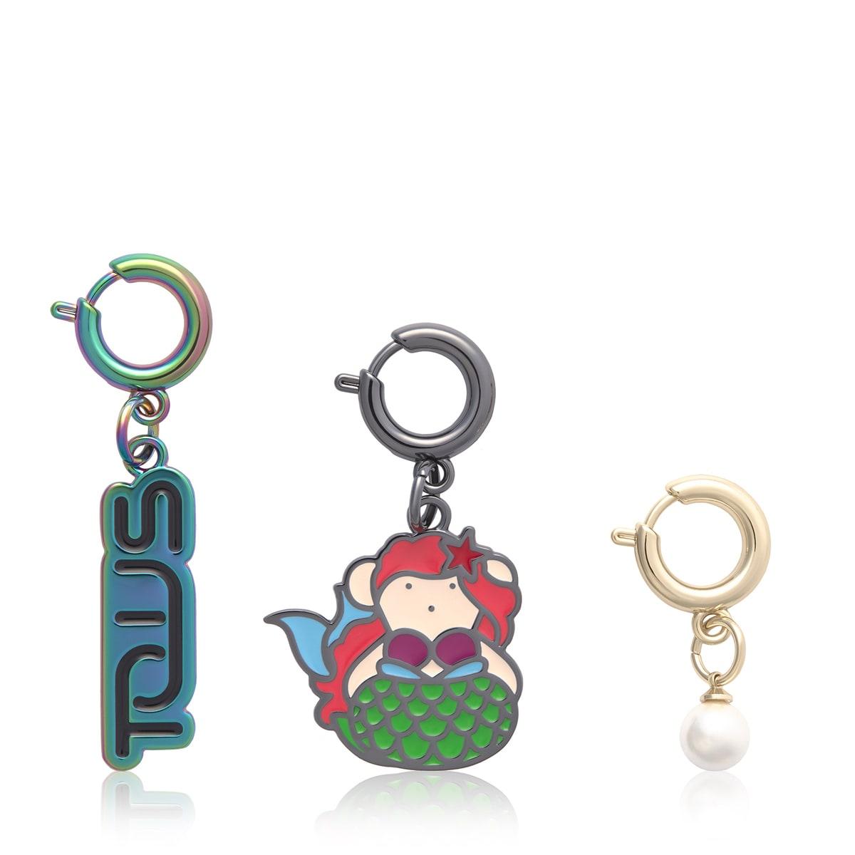 Set kleine Meerjungfrau bestehend aus drei bunten Anhängern