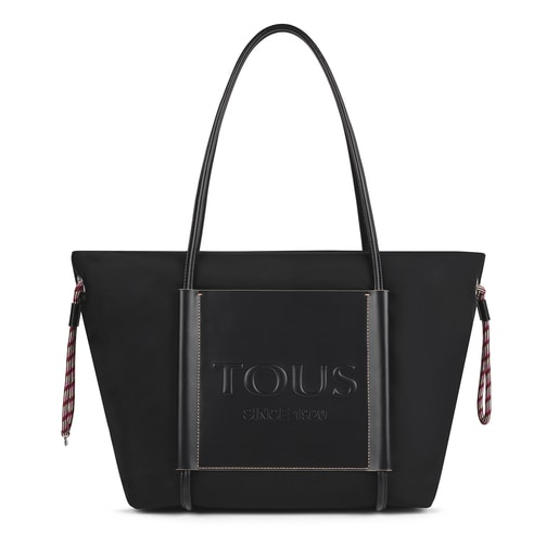Large black Empire Soft Tote bag