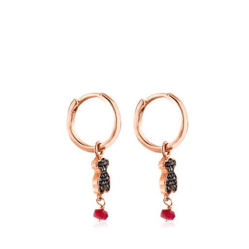 Ohrringe Motif aus rosa Vermeil-Silber