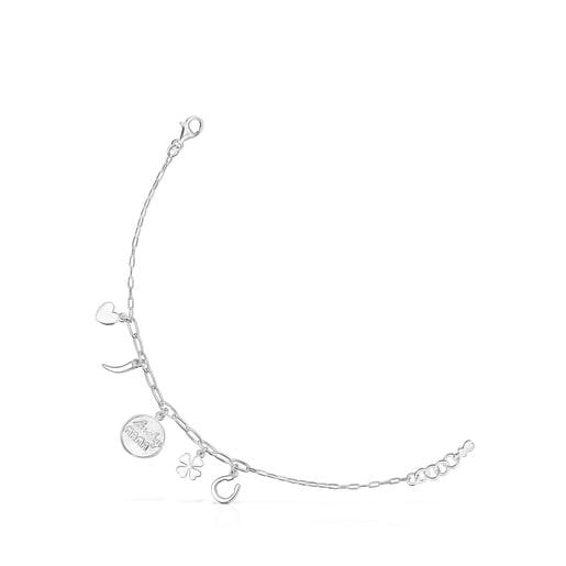 Silver TOUS Good Vibes Mama Bracelet