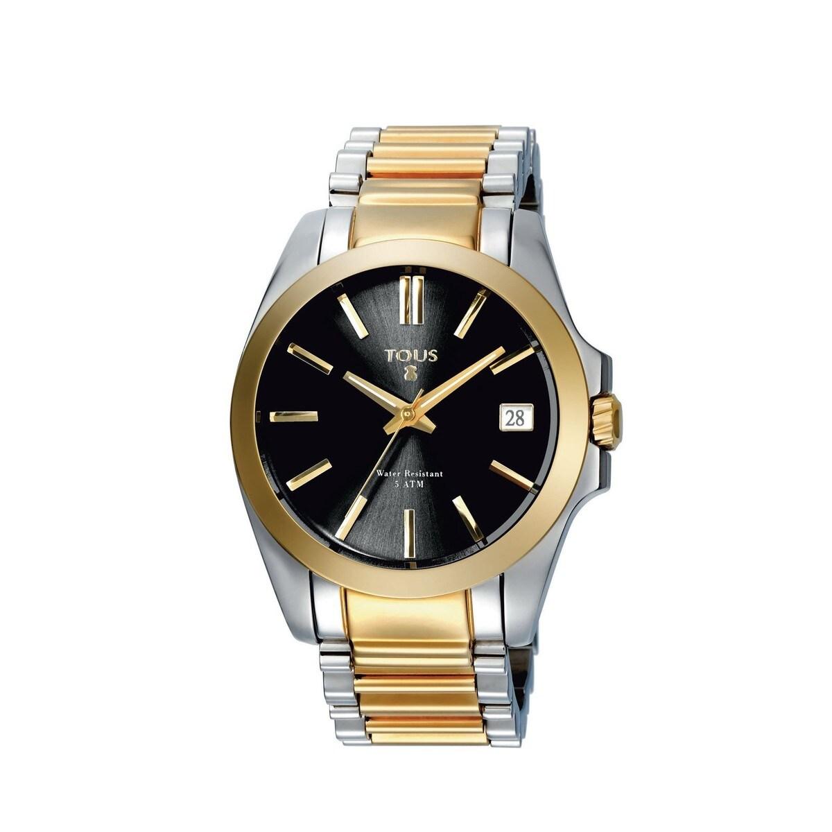 Zweifarbige Uhr Drive Combi aus IP Stahl in goldfarben