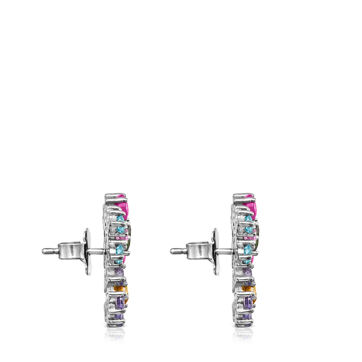 Titanium Real Sisy Earrings with Gemstones