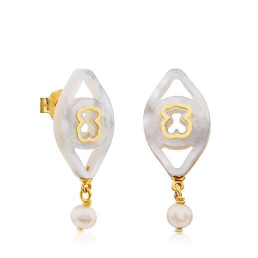 Gold Göz Earrings
