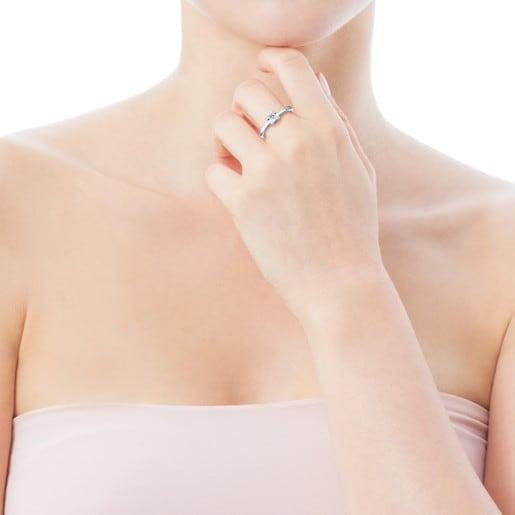 White Gold Sweet Diamond Ring with Diamond