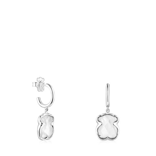 Silver and rock Crystal Sweet Dolls Color Earrings