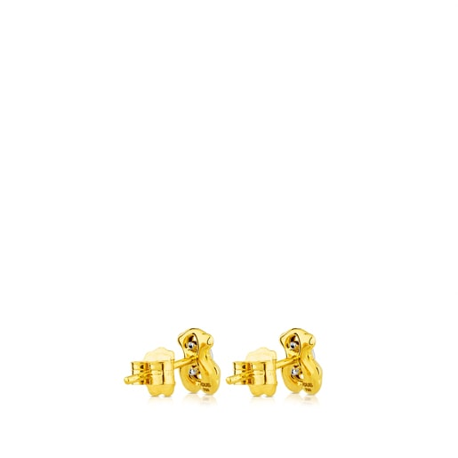 Gold Cruise Earrings with Diamonds
