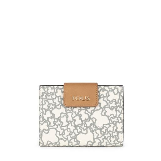 Small beige and black Kaos Mini wallet