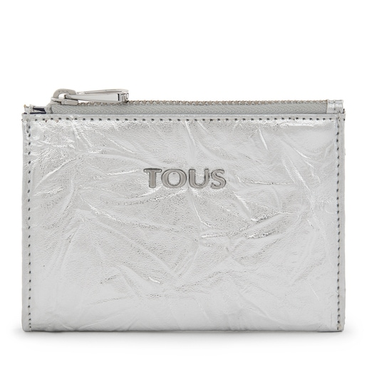 Metallic Silver-colored Dorp Change Purse-Cardholder