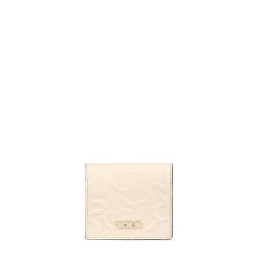 Billetera mini Tous Icon de piel beige
