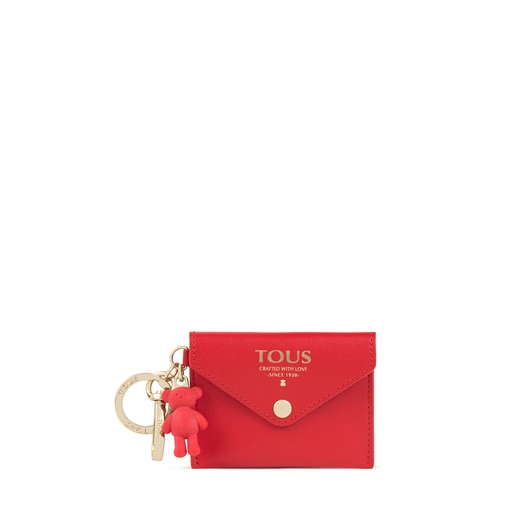 Red TOUS Envelope Key ring with mini toiletry bag