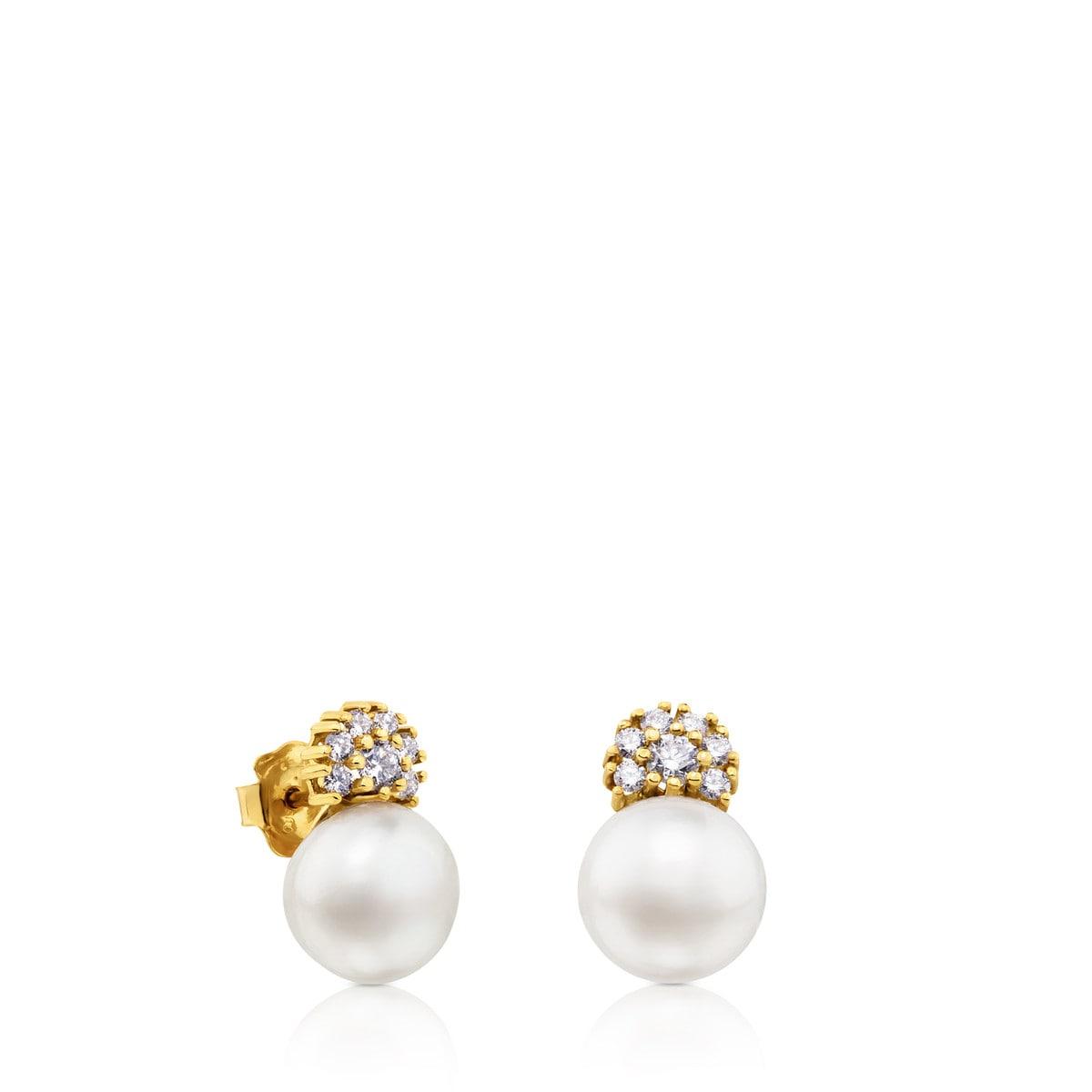 89b6ceb87e23 Pendientes ATELIER Classic de Oro con Perla y Diamantes - Sitio web ...