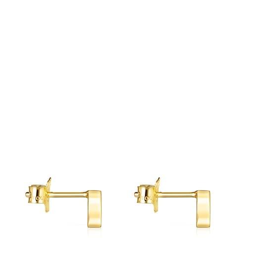 Σκουλαρίκια πέταλο TOUS Good Vibes από Χρυσό