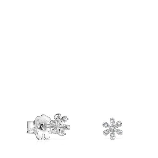 ArracadesBlumed'or blanc amb diamants