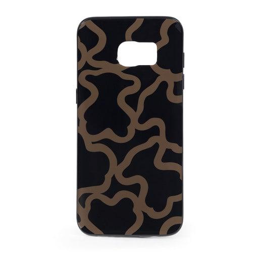 Funda de móvil Samsung Galaxy S7 Edge Kaos en color negro-camel