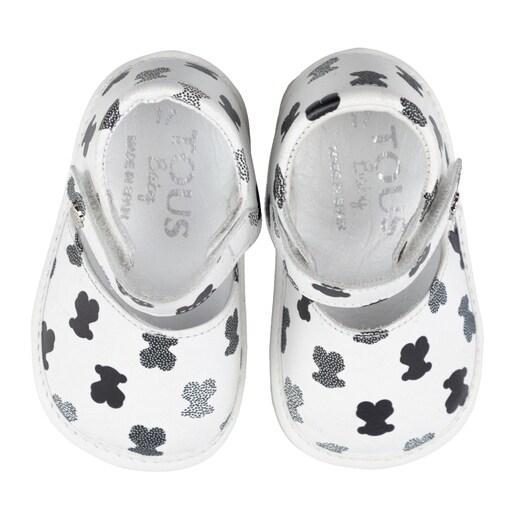 Patuco sandalia Mini Walk Points Blanco