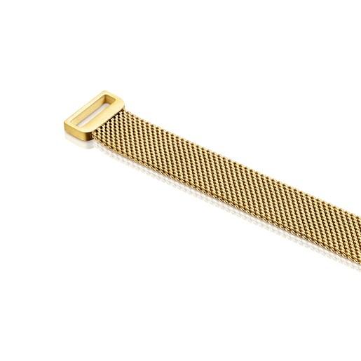 Gold-colored IP Steel Mesh Choker