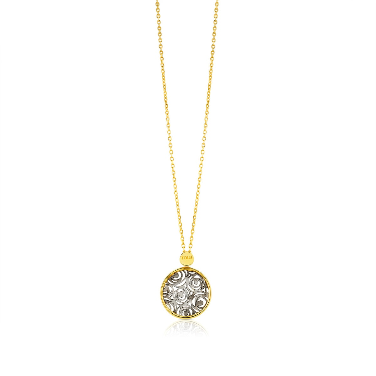 Silver and Vermeil Silver Rosa d'Abril Necklace