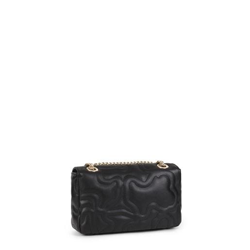 Μικρή μαύρη τσάντα Χιαστί με καπάκι Kaos Dream