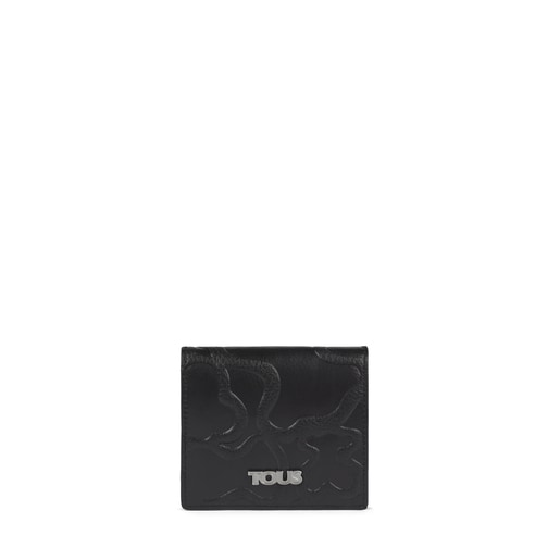 Mini black Leather TOUS Icon Wallet