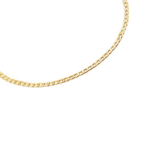 Enge Halskette TOUS Chain im Stil einer Panzerkette aus Vermeil-Silber