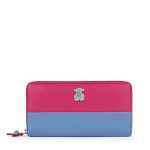 Medium fuchsia-blue Super Power Wallet