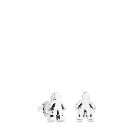 Silver Sweet Dolls boy Earrings