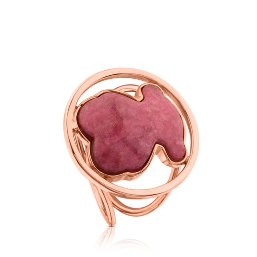 Rose Vermeil Silver Camille Ring with Rhodonite