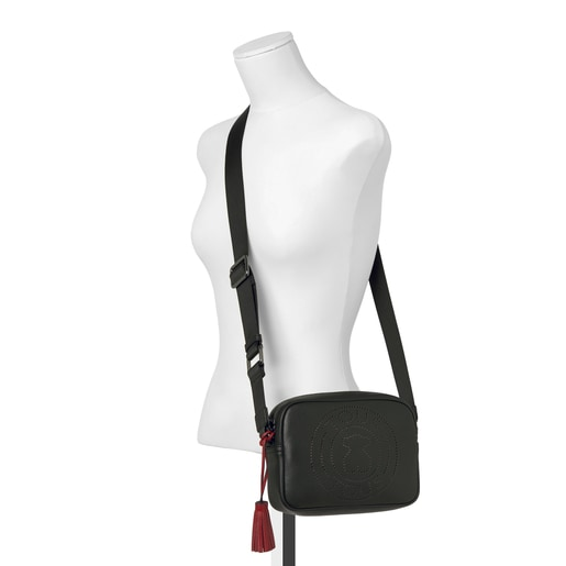 Small leather black Leissa crossbody bag