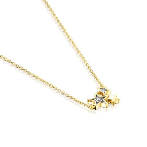 Collier Teddy Bear Stars en Or et Diamants