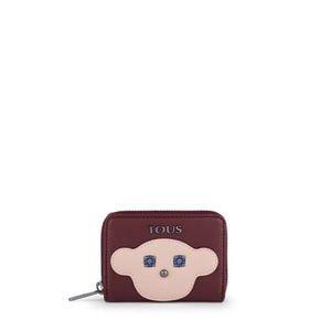 Burgundy Patch Maia Change purse