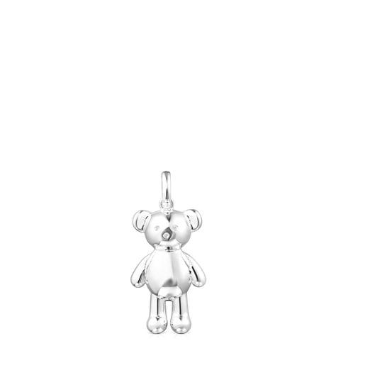 Silver Teddy Bear backpack Pendant
