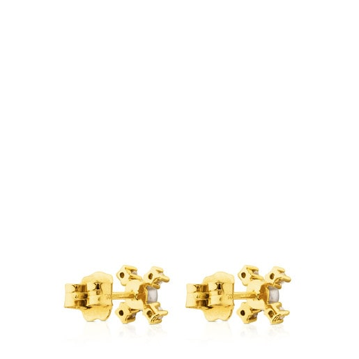 Ohrringe Eklat aus Gold mit Diamant und Perle