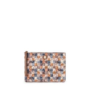 Brown-blue Kaos Vichy New Clutch bag