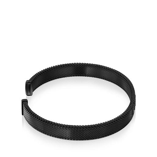 Armband Mesh aus IP-Stahl in Schwarz