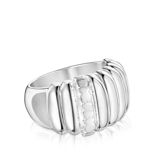 Silver TOUS Basics Gallon ring