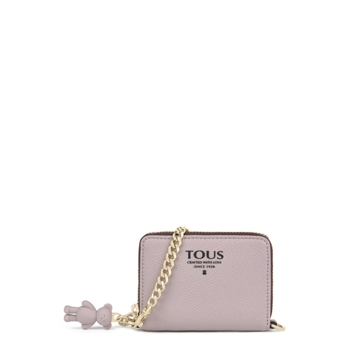 Medium mauve colored TOUS Pop pendant Change purse