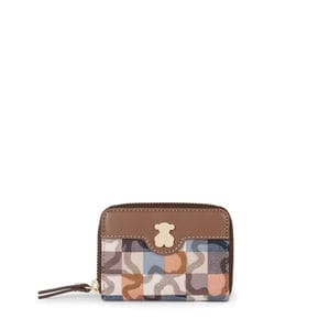 Brown-blue Kaos Vichy New Change purse
