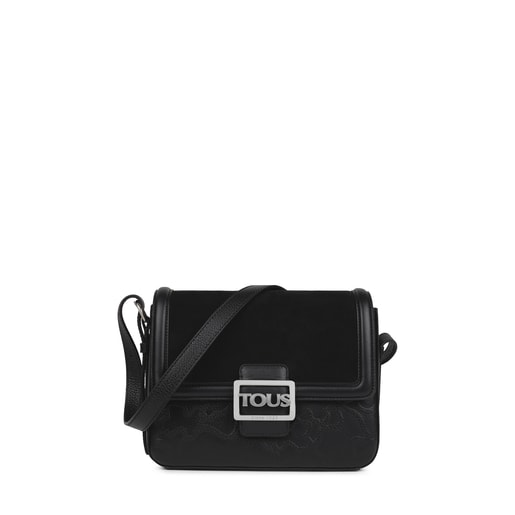 Medium black Leather TOUS Icon Crossbody bag