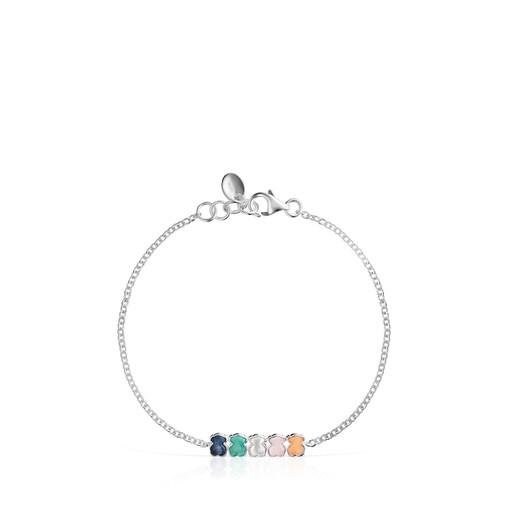 Mini Color Bracelet in Silver with Gemstones