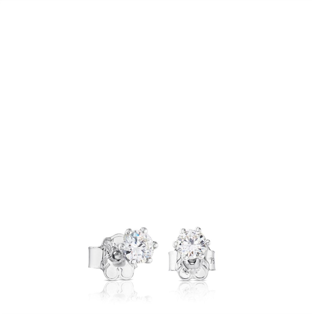 b4f836954c85 Pendientes TOUS Diamonds de Oro blanco con Diamantes - Sitio web ...